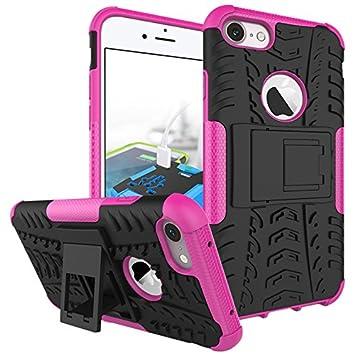 iPhone 7 Plus / iPhone 8 Plus Funda, adorehouse Hybrid TPU y PC Bumper Back Cover [diseñ o 2 en 1] Anti-Gota Anti-Choques Rí gido Carcasas para iPhone 7 Plus / iPhone 8 Plus (Rojo)