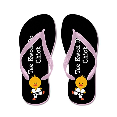 (CafePress - Tae Kwon Do Chick - Flip Flops, Funny Thong Sandals, Beach Sandals Pink)