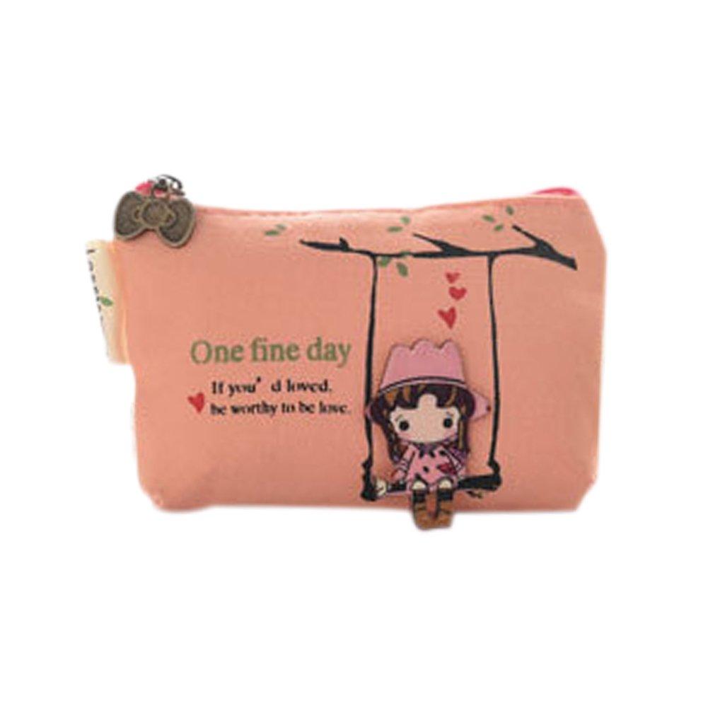 Jenvilly Coin Purse Girls Creative Cartoon Wallet Key Holder Canvas 11.582.8cm 1pcs