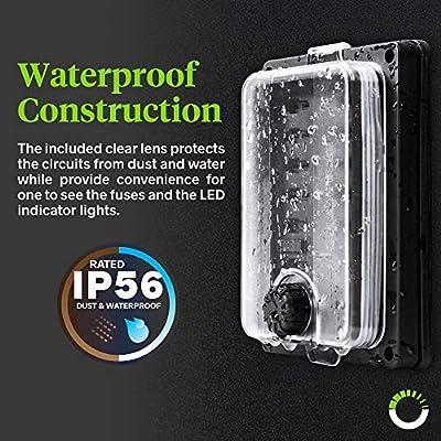 Amazon.com: 10 Way Waterproof Fuse Box for Automotive [ATC/ATO Blade Fuses]  [250 Amp] [Up to 25A per Socket] [LED Indicator] [12V - 32V DC] Auto Marine Fuse  Block: AutomotiveAmazon.com