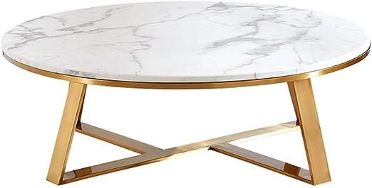 mesas de Centro Modernas Mesa de Centro de mármol Blanca Redonda ...