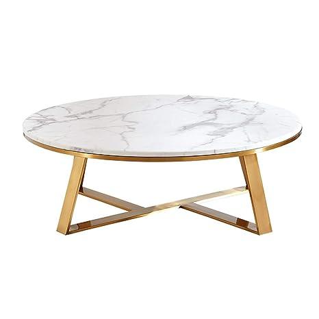 Kuku Coffee Table Modern Round White Marble Coffee Table Creative