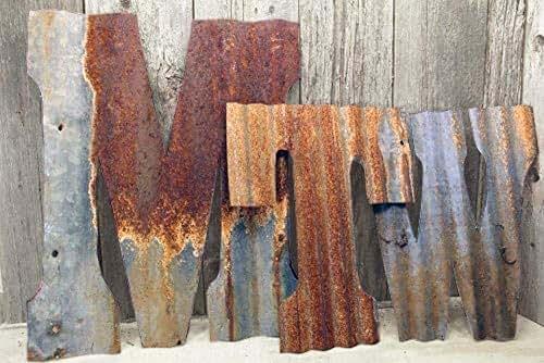 Amazon Com Rusty Tin Letters Rustic Metal Wall Decor 8