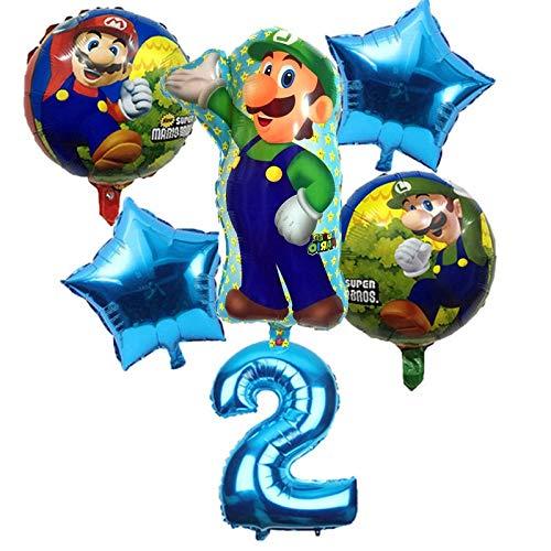 YVANP 6 Unids/Lote Super Mario Bros Globos Fiesta de ...