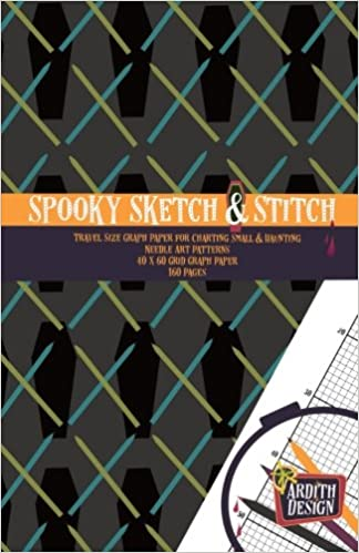 spooky sketch stitch travel size graph paper for charting small