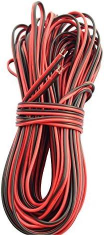 20m Cable Extensión Tira LED 2 pines Cable de Conexión Cinta de luz LED 2 Pin Cable Divisor Línea Separable Conector Banda LED Extension Cable para SMD 5050 3528 2835 LED Strip o Otros Dispositivos