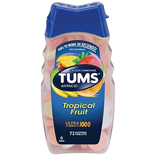 Assorted Tropical Fruit (TUMS Ultra Strength 1000 Chewable Tablets Assorted Tropical Fruit - 72 ct)