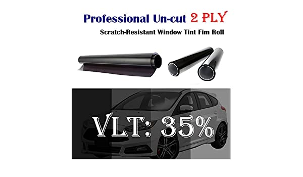 Mkbrother 2PLY 1.8 mil Premium 5/% VLT 40 in x 5 Ft Feet Uncut Roll Window Tint Film 40 x 60 Inch