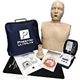 Basic CPR Training Kit w Prestan Ultralite CPR Manikin, AED UltraTrainer, MCR Kneeling Mat