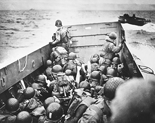 Home Comforts Laminated Poster U.S. Troops Crouch Inside a LCVP Landing Craft, just Before Landing on Omaha Beach on D-Day, 6 J Vivid Imagery Poster Print 24 x 36