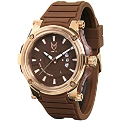 Meister Watches / MSTR Watches Men's Prodigy Watch | PRS115 | Brown / Gold & Brown | Stainless-Steel / Plastic Case And Rubber Band