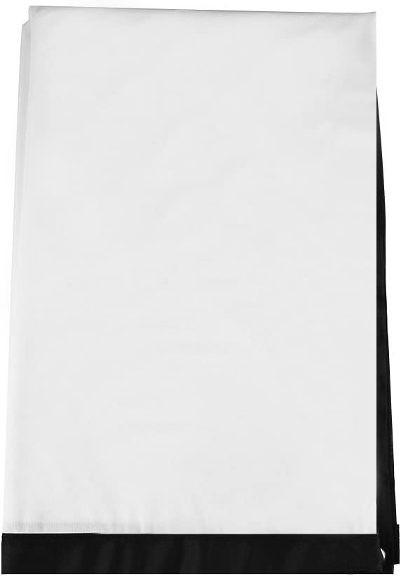 Yosoo- 60-100 Inch Portable Foldable Non-Crease White Projector Curtain Projection Screen 4:3(100 inches)