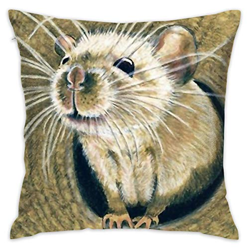 SARA NELL Velvet Throw Pillow Cases,Cute Mouse Out of The Hole,Pillow Covers Decorative 18x18 in Pillowcase Cushion Covers with Zipper ()
