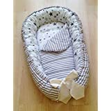 Baby Nest Baby Gift Baby Newborn Bed Cotton Crib Cot Star Grey White
