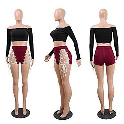 Adelina Mujeres Europa Shorts Joven Transpirable Ladies Discoteca Locker Shorts Moda Moda Completi Casual Short Summer Short Pant Tight Pantalones De Fiesta Negro: Ropa y accesorios