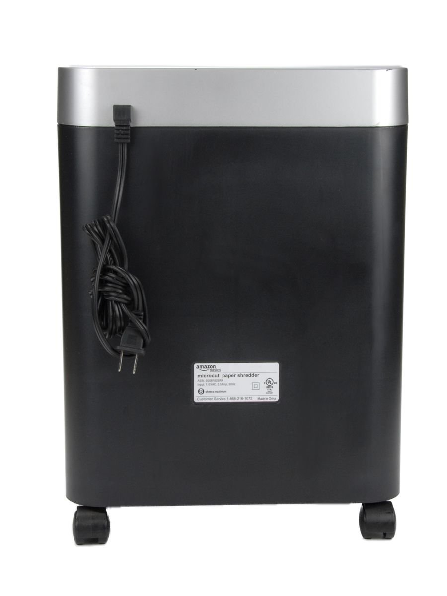 amazonbasics 7 to 8 sheet micro cut paper cd credit card amazonbasics 7 to 8 sheet micro cut paper cd credit card shredder pullout basket amazon co uk office products