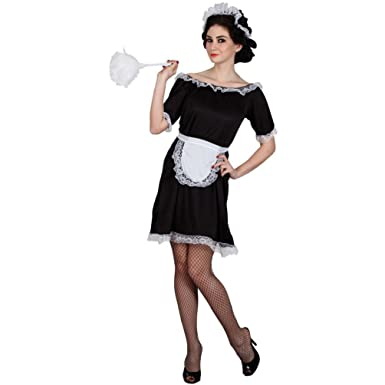 aa04f8f33511 Image Unavailable. Image not available for. Colour: French Maid Costume  Black White Waitress Fancy Dress Outfit Sizes 6 ...
