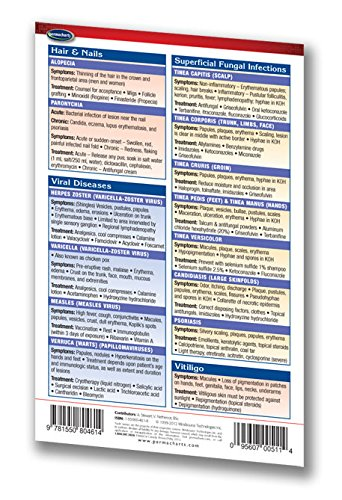 Dermatology Guide - Pocket Chart - Medical Quick Reference Guide by Permacharts