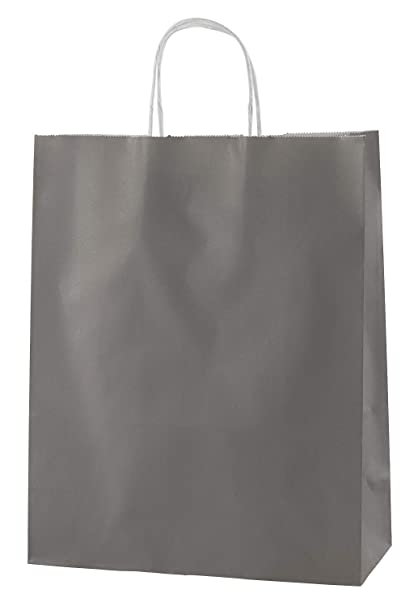 b46ef6081c19 Thepaperbagstore 30 GREY TWIST HANDLE PAPER CARRIER BAGS 10