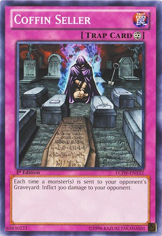 Yu-Gi-Oh! - Coffin Seller (LCJW-EN132) - Legendary Collection 4: Joey's World - 1st Edition - - Card Coffin