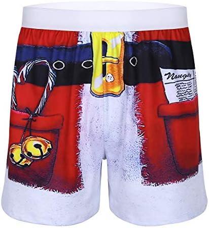 YONGHS Mens 3D Printed Christmas Holiday Costume Santa Claus Boxer Shorts Funny Underwear