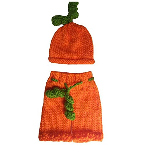 Crochet Pumpkin Hat - Jastore Photography Prop Christmas Pumpkins Knitted Costume Hat Pants