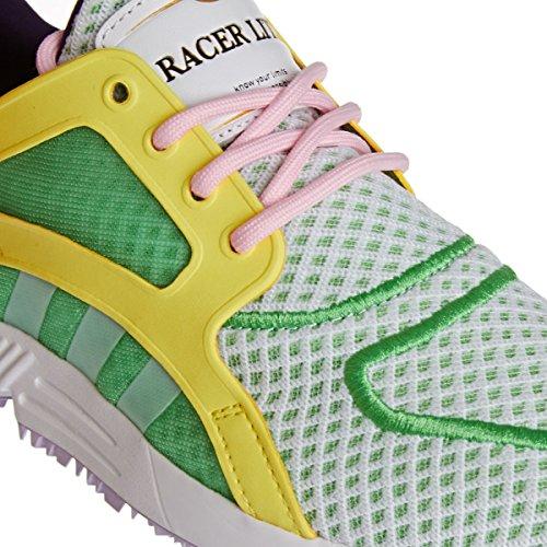 Adidas Racer Lite - Zapatillas de deporte para hombre Semi Flash Green/White/Yellow