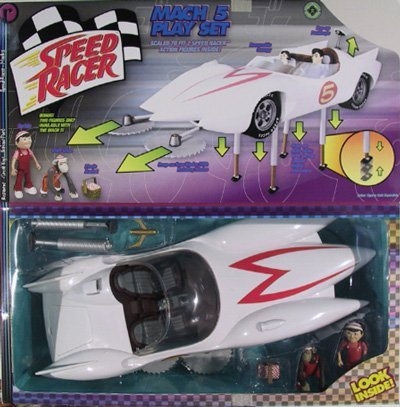 Speed Racer Mach V Playset with Exclusive Spridle & Chim Chim Figures by Resaurus