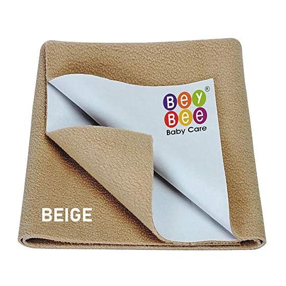 Beybee Quick Dry Bed Protector Waterproof Baby Cot Sheet - Small (Beige)