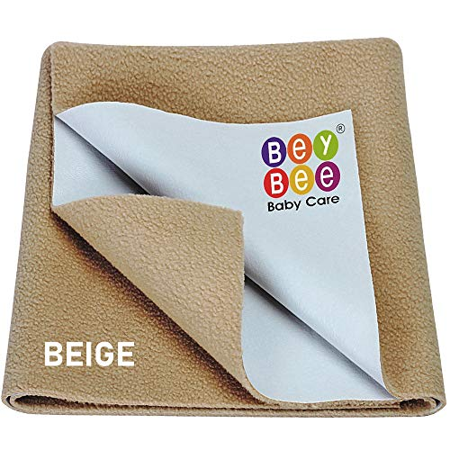 Beybee Quick Dry Bed Protector Waterproof Baby Cot Sheet – Small (Beige)
