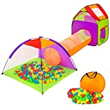 TecTake Igloo children's tent with tunnel+200 balls + bag - Pop up play tent with tunnel for kids