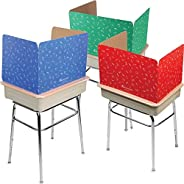 Really Good Stuff Large Privacy Shields for Student Desks – Set of 12 - Matte - Study Carrel Reduces Distracti