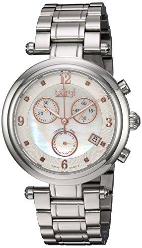 Burgi Women's BUR080SS Analog Display Swiss Quartz Silver Watch