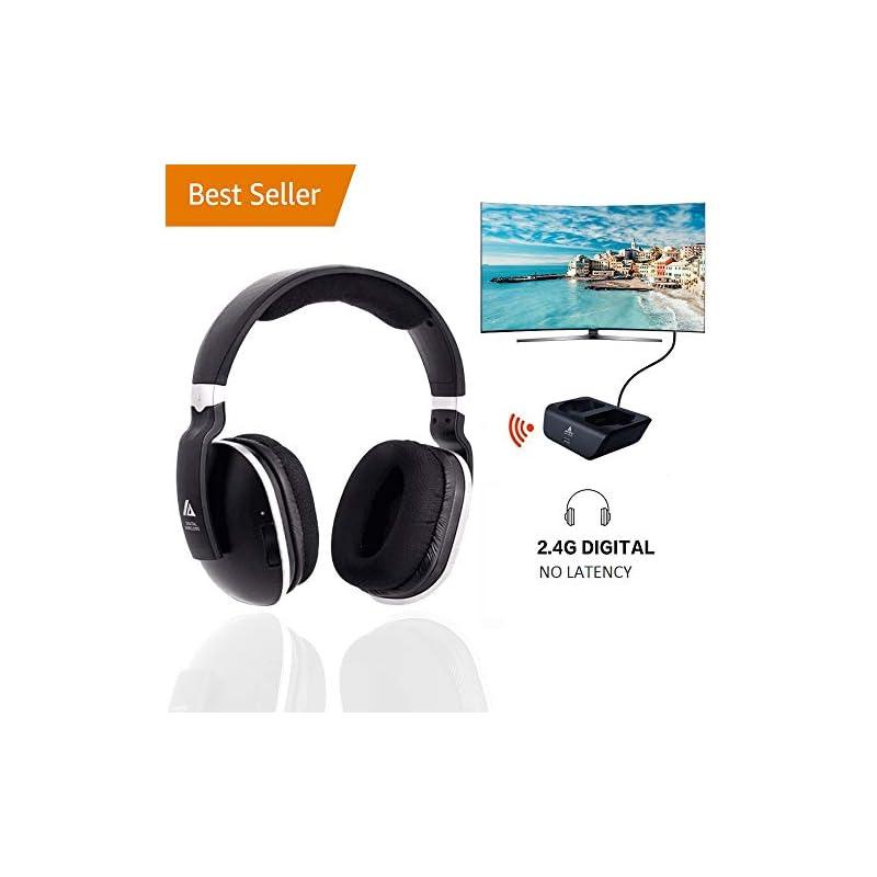 Wireless TV Headphones Over Ear, Monodea