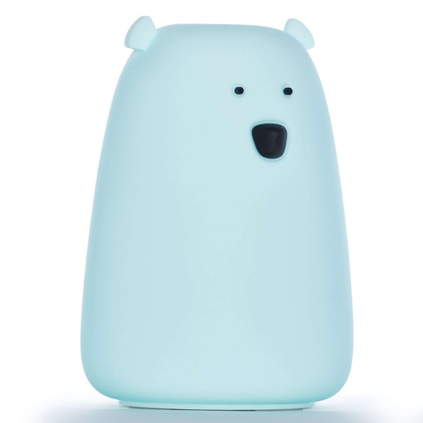 Moogi Color Changing Night Light for Kids - Baby Night Light Bear Lamp, Rechargeable LED Nightlight, Soft Silicone Blue Night Light by Moogi