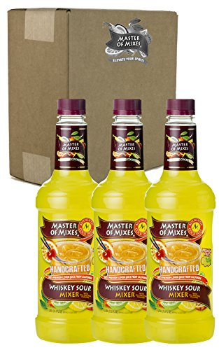 Master of Mixes Whiskey Sour Drink Mix, Ready To Use, 1 Liter Bottle (33.8 Fl Oz), Pack of 3 (Coco And Ice T Halloween Costumes)