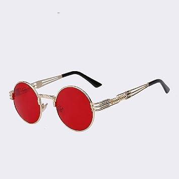 ZHOUYF Gafas de Sol Gafas De Sol Redondas para Hombre ...