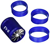 #9: uxcell F1-Z Double Turbine Turbo Charger Air Intake Gas Fuel Saver Fan for Car