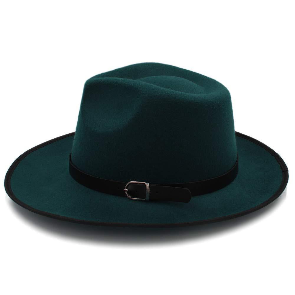 Kinue Fashion Unisex Womem Men Classic Wide Brim Sun Hat Feodora hat Panama Cap Very Soft by Kinue