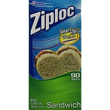 Ziploc Sandwich Bag Value Pack- 90 count (Pack of 3)