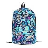 lotus.flower 2018 Leaves Printing Sport Backpack Student Bag Shoulder Bag Sport School Bags Lightweight for Lovers Adult Children Boys Girls (Blue)