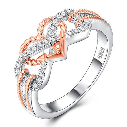 Heart Promise Ring - FENDINA Women's Infinity Rings Vintage