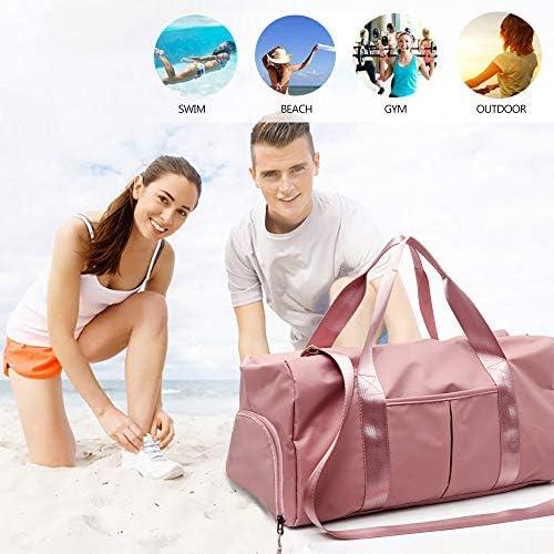 Rosa HENZIN Sporttasche mit Schuhfach und Nassfach Reisetasche Gro/ß Gym Fitness Tasche Wasserdicht Trainingstasche Sporttasche f/ür M/änner und Frauen