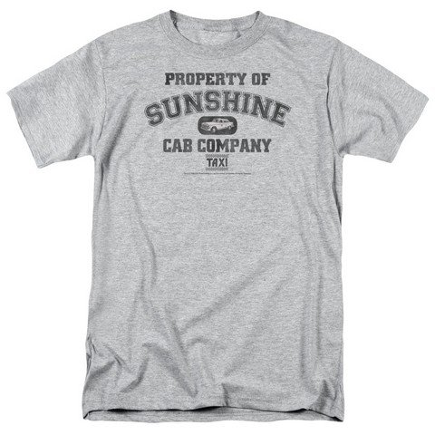 Taxi Property Of Sunshine Cab Costume ABC 80s TV Show T-Shirt Tee (80s Clothing For Men)