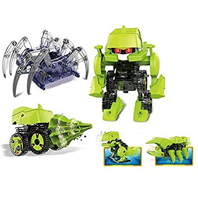 4 in 1 Spider & Solar Dinobot Kit to Build: Toys & Games
