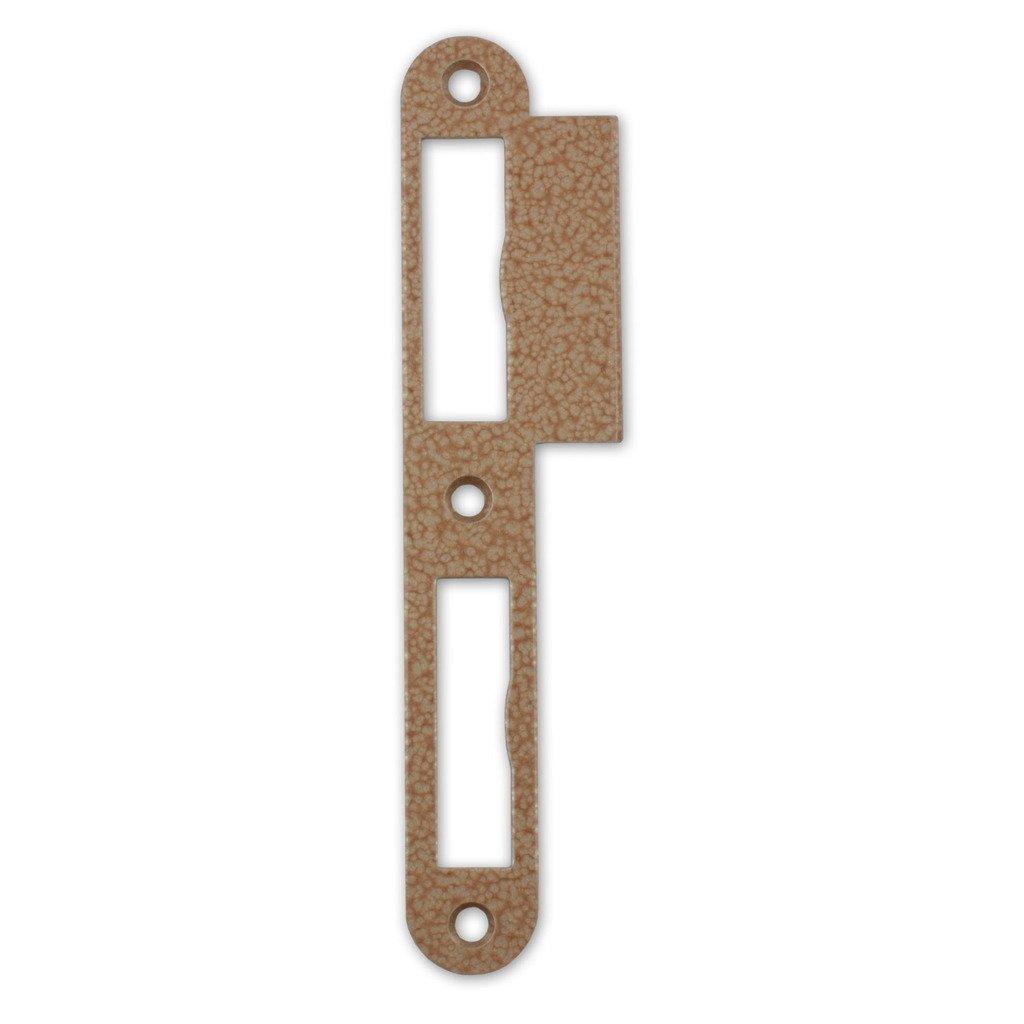 M4TEC ZB7 G/âche /à languette premium en Acier laqu/é Noyer du Mayombe Robuste durable facile /à installer /Él/égant DIN R Convient aux serrures de porte int/érieure simple tour//double tour de portes en applique