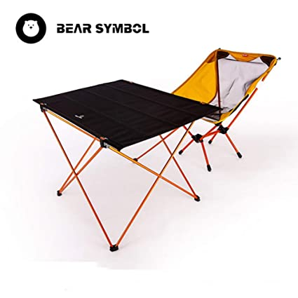 LOO LA Portable Ultralight Camping Chair Picnic Table And Chair Set