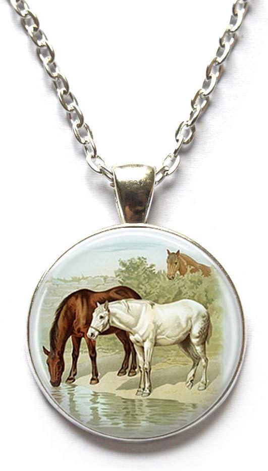 Horse Locket Necklace Locket Pendant Wearable Art Horse Jewelry,art jewelry glass jewelry Best friend Locket Necklace,QK020