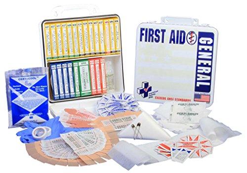 Certified Safety K202 017 24M Ansi General Purpose First Aid Kit In Metal