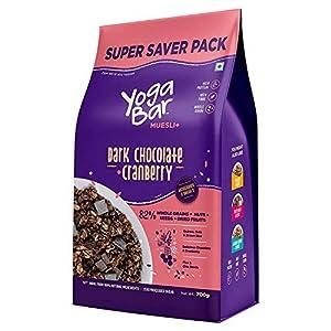 Yogabar Wholegrain Breakfast Muesli Fruits, Nuts + Seeds, 700 g (Super Saver Pack) 13 51ddWMKqoqL. SS300